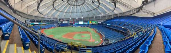 Tropicana Field, section: 307, rangée: S, siège: 2