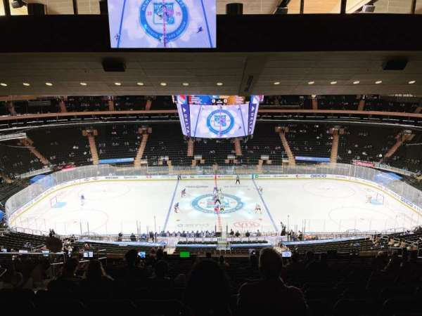 Madison Square Garden, section: 211, rangée: 18, siège: 8