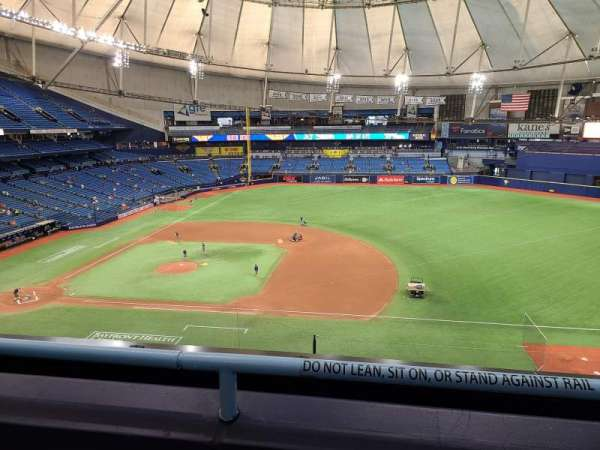 Tropicana Field, section: 314, rangée: B, siège: 14