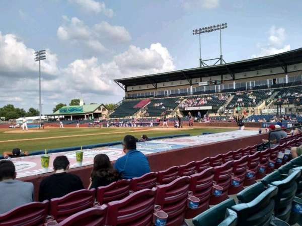 Whitaker Bank Ballpark, section: 110, rangée: 5, siège: 15