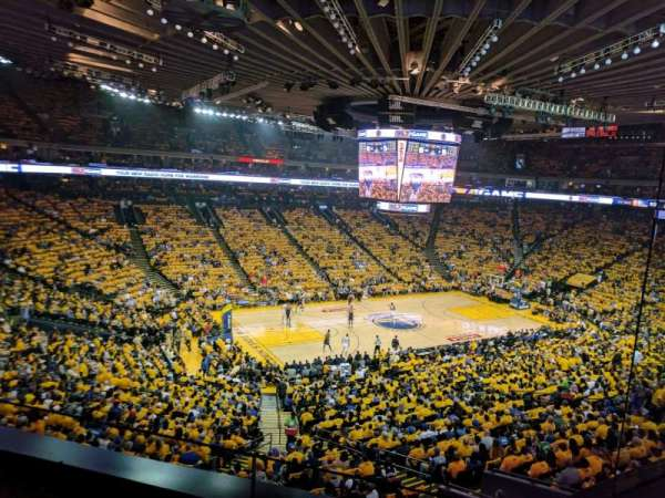 Oracle Arena, section: M15, rangée: 2