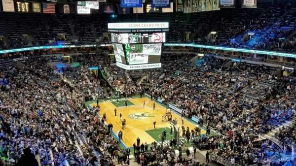 BMO Harris Bradley Center, section: 414, rangée: M, siège: 8