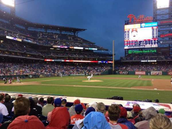 Citizens Bank Park, section: 116, rangée: 9, siège: 8
