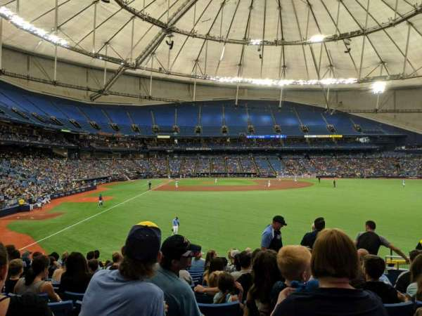 Tropicana Field, section: 142, rangée: FF, siège: 16