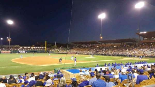 Camelback Ranch, section: 125, rangée: 1, siège: 7
