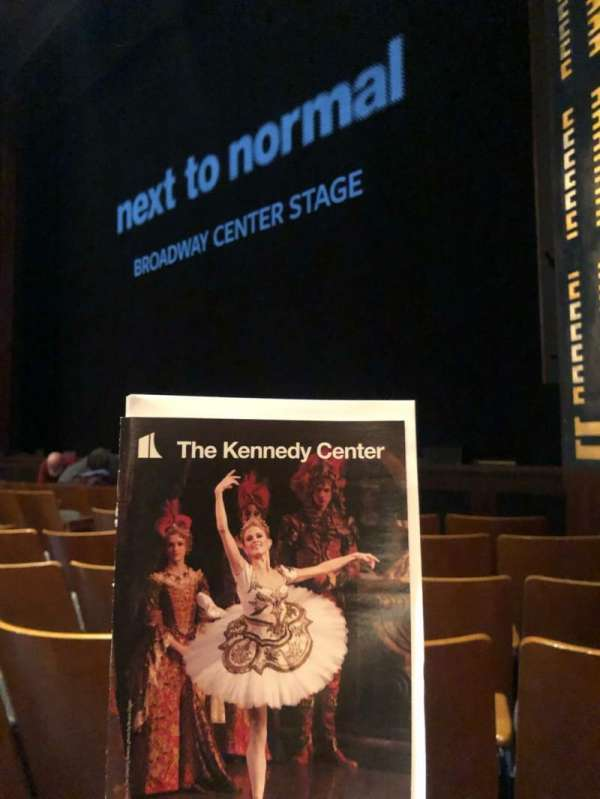 The Kennedy Center Eisenhower Theater, section: Orchestra, rangée: H, siège: 14