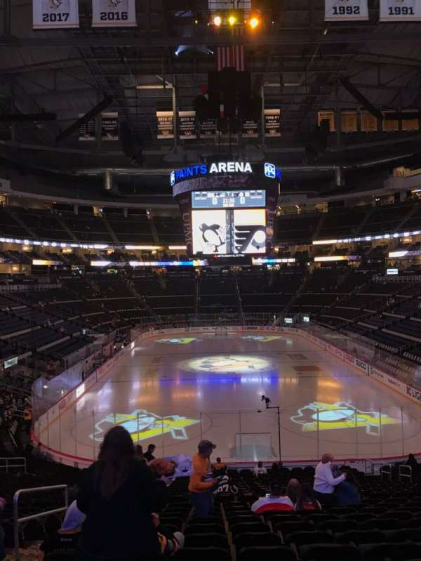 PPG Paints Arena, section: 118, rangée: Z, siège: 11