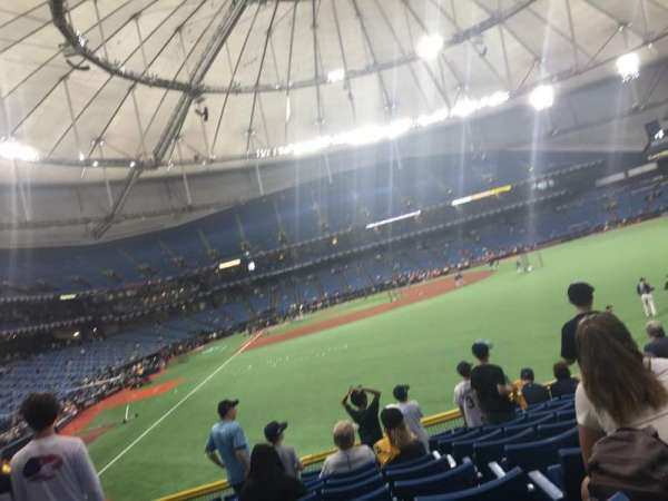 Tropicana Field, section: 142, rangée: CC, siège: 12