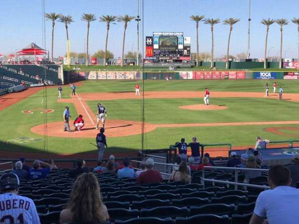 Goodyear Ballpark, section: 114, rangée: X, siège: 7