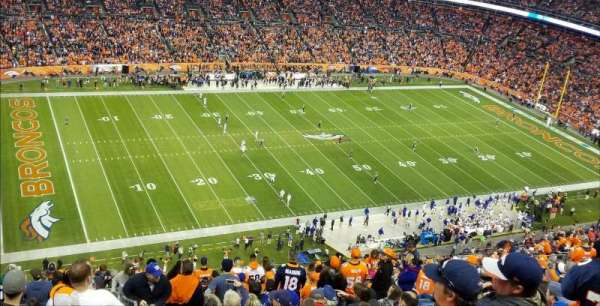 Empower Field at Mile High Stadium, section: 539, rangée: 23, siège: 1