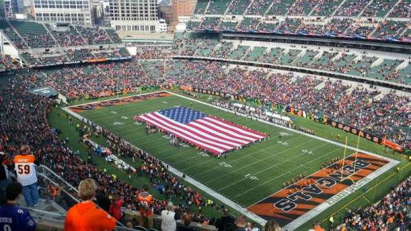 Paul Brown Stadium, section: 330, rangée: 19, siège: 1