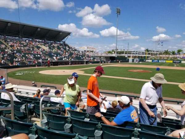 Hammond Stadium at CenturyLink Sports Complex, section: 103, rangée: 10, siège: 17