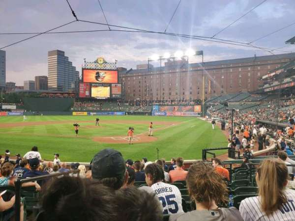 Oriole Park at Camden Yards, section: 40, rangée: 14, siège: 7