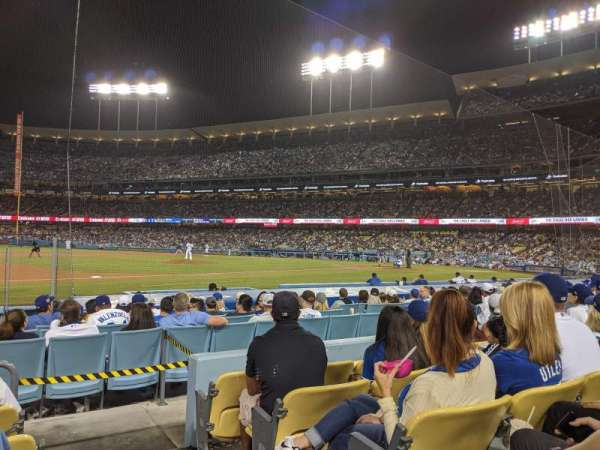 Dodger Stadium, section: 27FD, rangée: E, siège: 1
