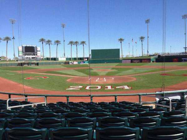 Goodyear Ballpark, section: 112, rangée: L, siège: 5