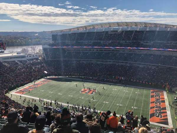 Paul Brown Stadium, section: 337, rangée: 29, siège: 5