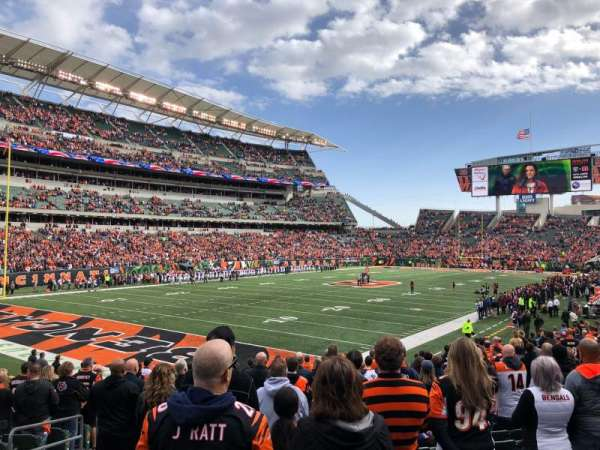 Paul Brown Stadium, section: 119, rangée: 19, siège: 14
