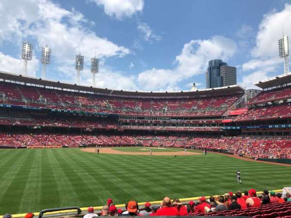 Great American Ball Park, section: 102, siège: 1