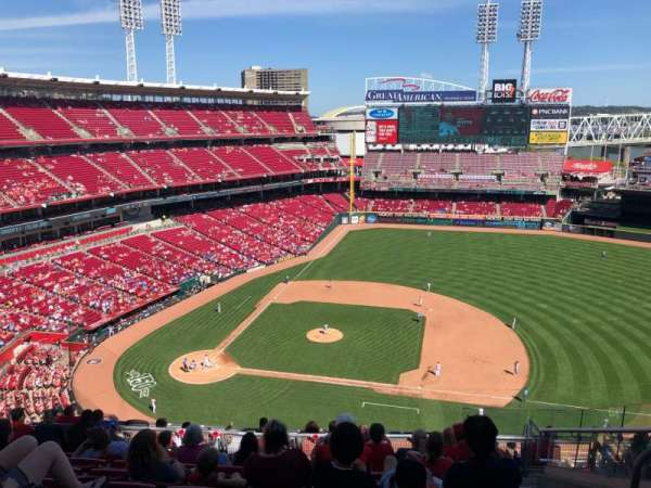 Great American Ball Park, section: 530, rangée: F, siège: 8