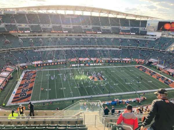 Paul Brown Stadium, section: 343, rangée: 22, siège: 2