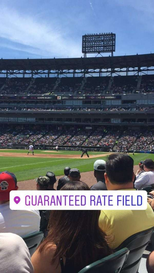 Guaranteed Rate Field, section: 149, rangée: 3, siège: 5