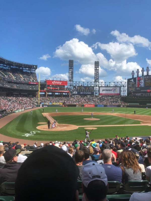 Guaranteed Rate Field, section: 129, rangée: 25, siège: 7
