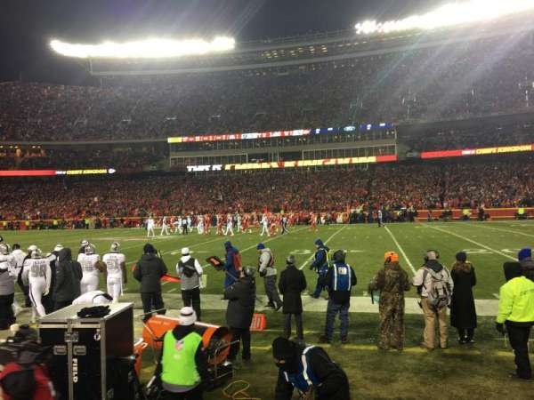 Arrowhead Stadium, section: 135, rangée: 2, siège: 22
