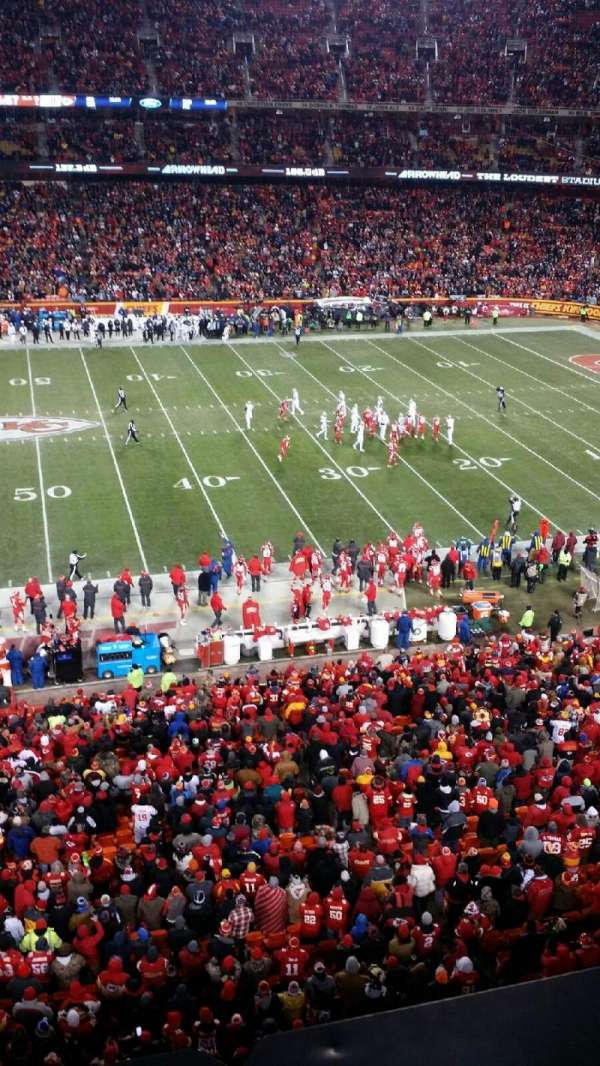 Arrowhead Stadium, section: 324, rangée: 1, siège: 12