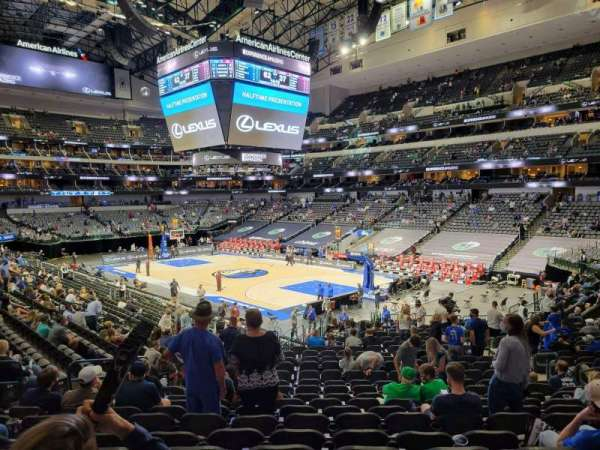 American Airlines Center, section: 102, rangée: Y, siège: 10