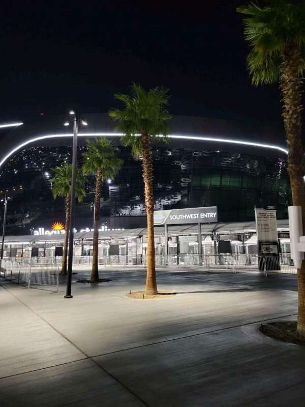 Allegiant Stadium, section: America First Credit Union Entry