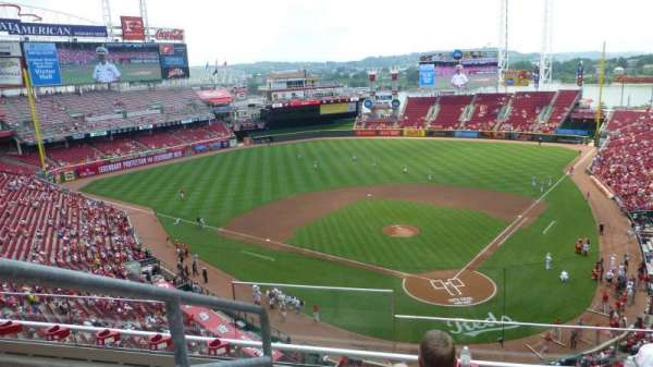 Great American Ball Park, section: 422, rangée: D, siège: 15
