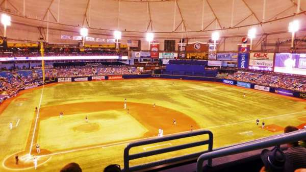 Tropicana Field, section: 308, rangée: C, siège: 19