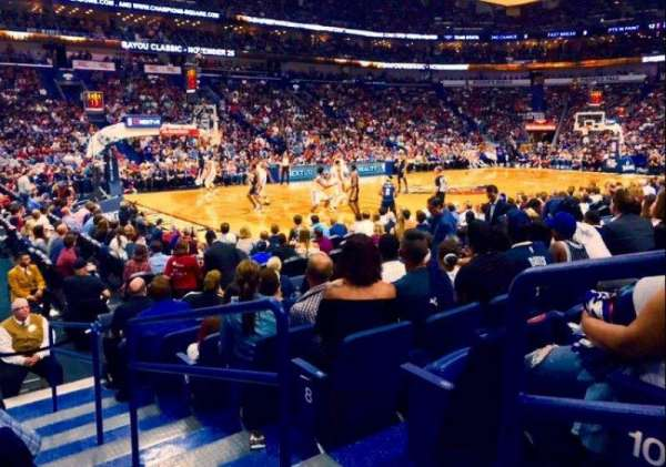 Smoothie King Center, section: 103, rangée: 11, siège: 1