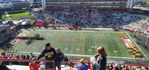 Maryland Stadium, section: 308, rangée: Z, siège: 2