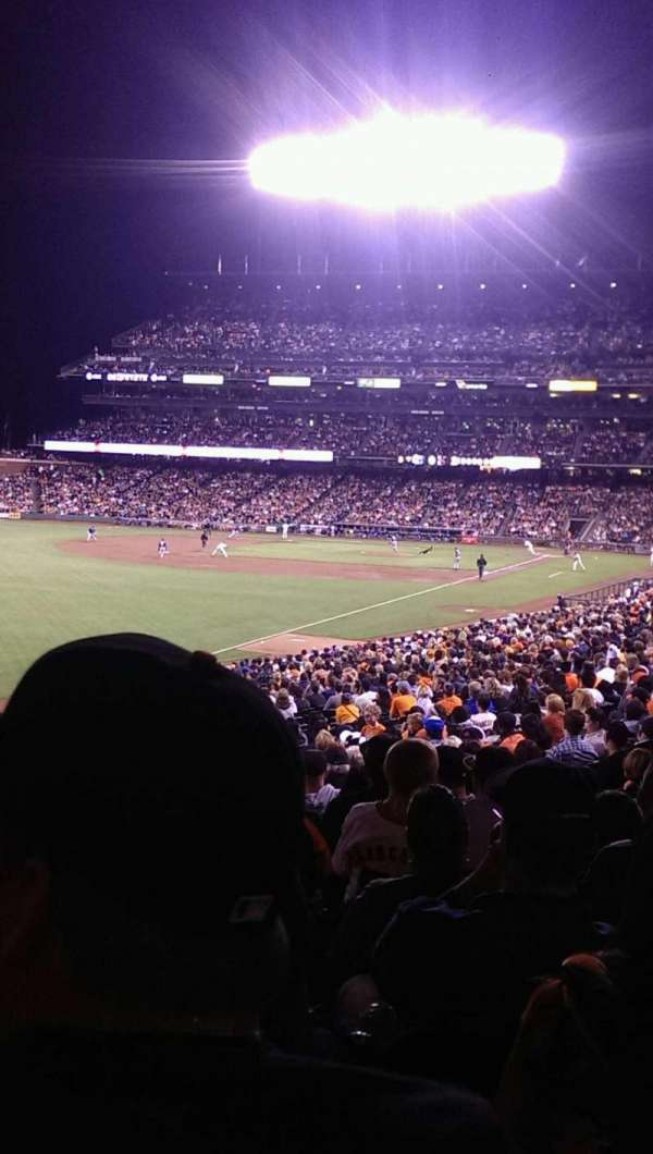 Oracle Park, section: 134, rangée: 33, siège: 6