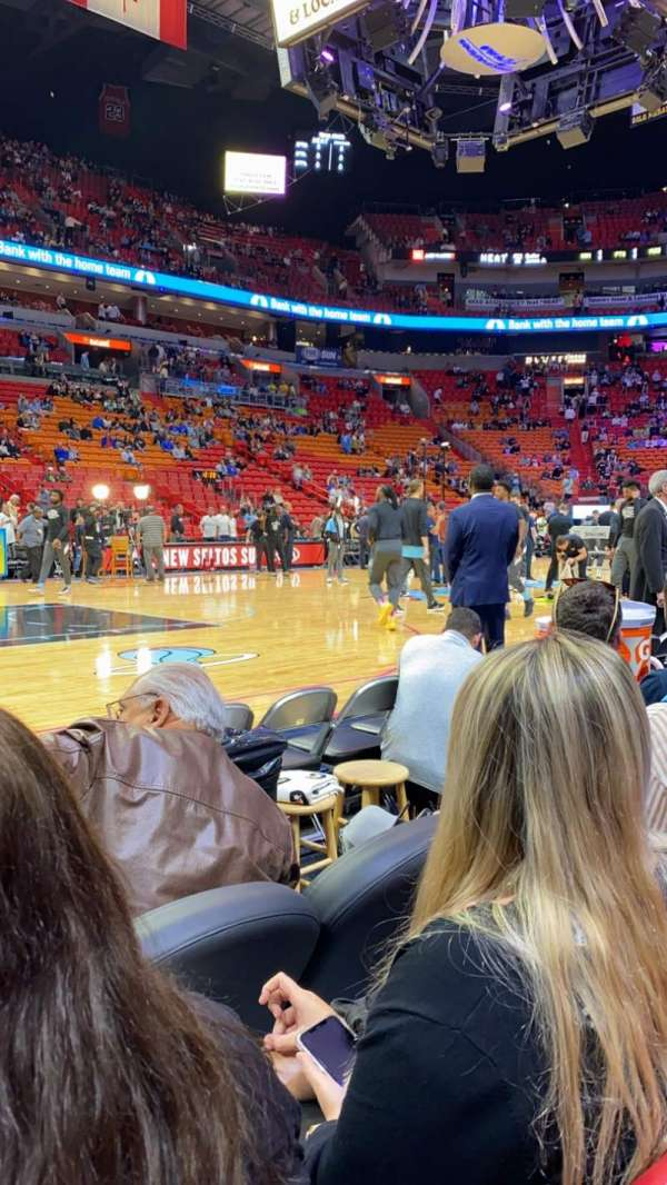 American Airlines Arena, section: 108, rangée: 3, siège: 11