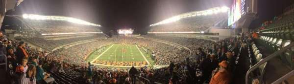 Paul Brown Stadium, section: 226, rangée: 30, siège: 1