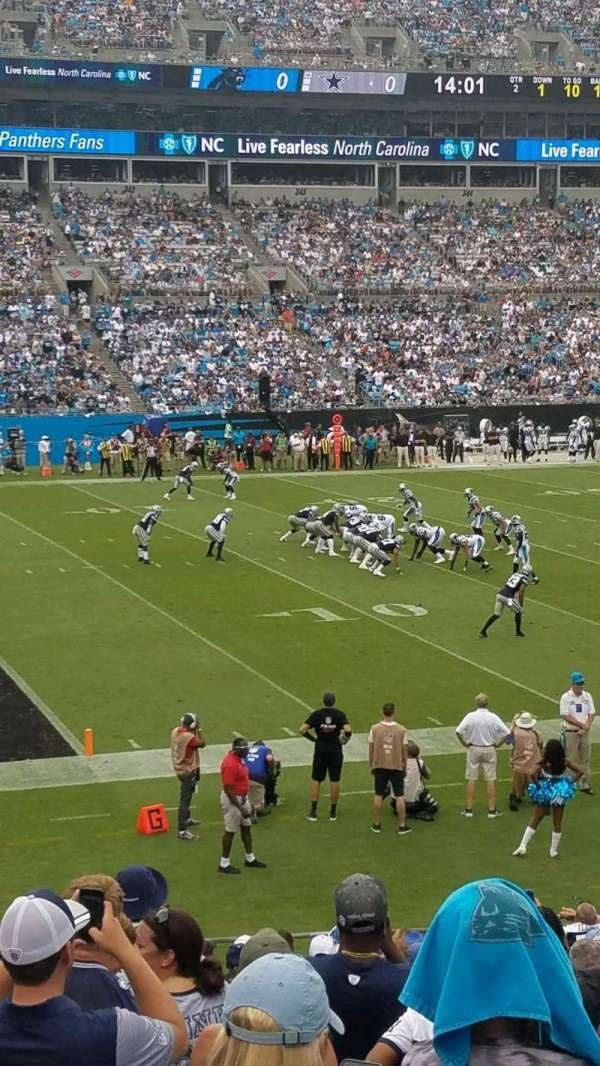 Bank of America Stadium, section: 118, rangée: 18, siège: 14
