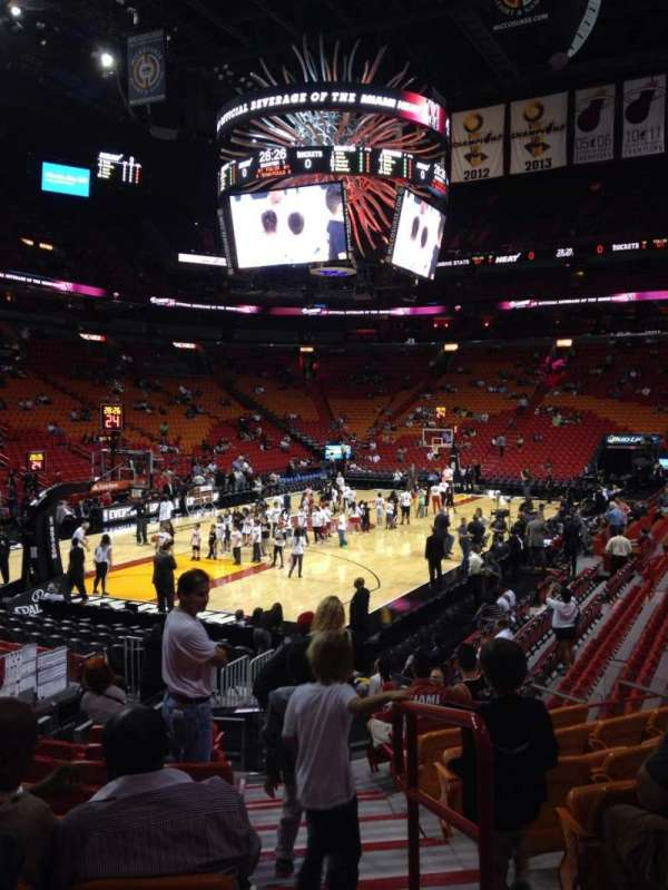 American Airlines Arena, section: 123, rangée: 16, siège: 1