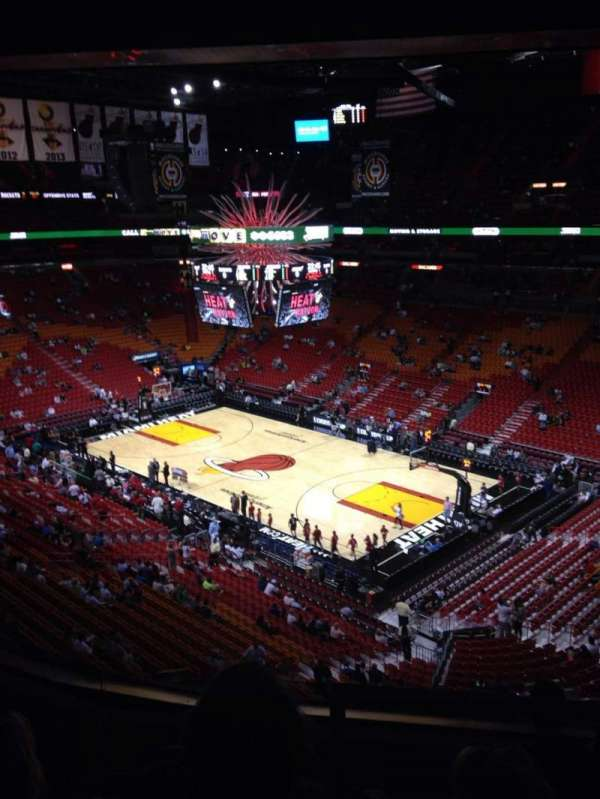 American Airlines Arena, section: 305, rangée: 5, siège: 1