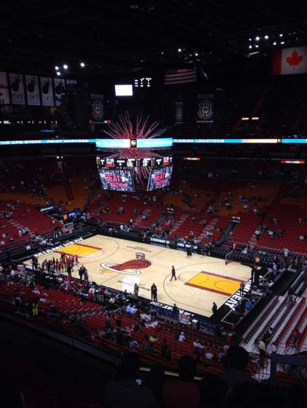American Airlines Arena, section: 306, rangée: 5, siège: 1
