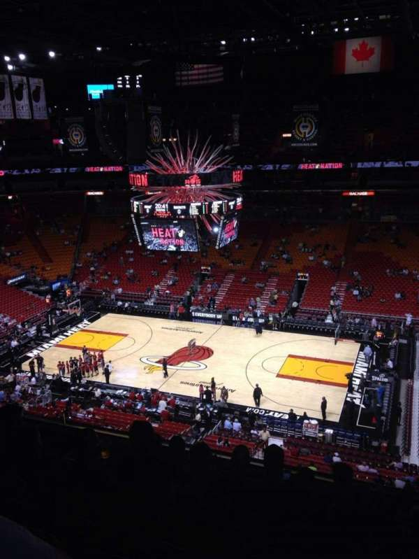 American Airlines Arena, section: 307, rangée: 7, siège: 1