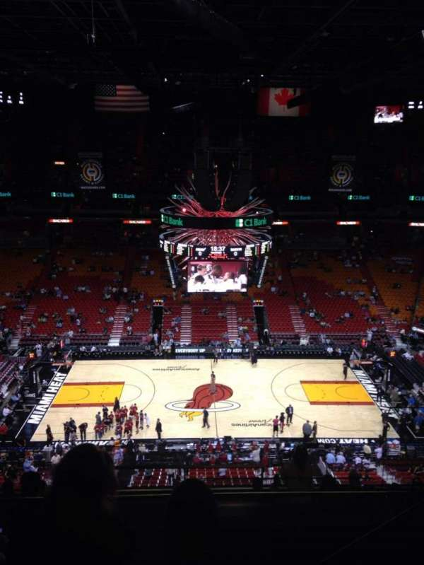 American Airlines Arena, section: 309, rangée: 11, siège: 3