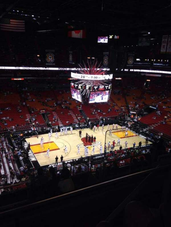 American Airlines Arena, section: 312, rangée: 10, siège: 3