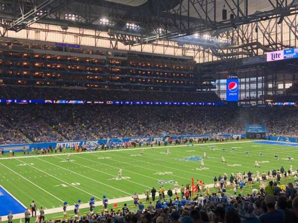 Ford Field, section: 122, rangée: 38, siège: 22