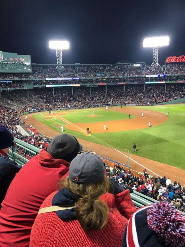 Fenway Park, section: Right Field Roof Deck Box 25, rangée: B, siège: 1