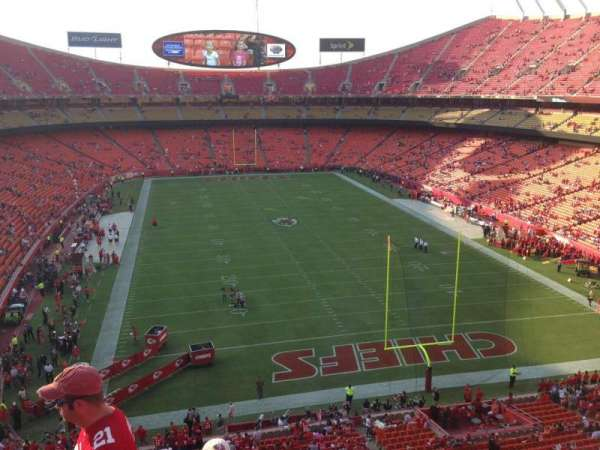 Arrowhead Stadium, section: 314, rangée: 4, siège: 9