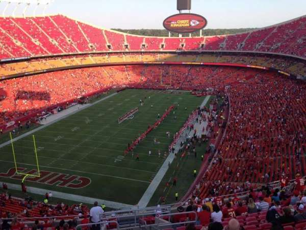 Arrowhead Stadium, section: 333, rangée: 20, siège: 1