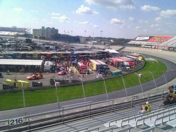 Dover International Speedway, section: 216, rangée: 9, siège: 9