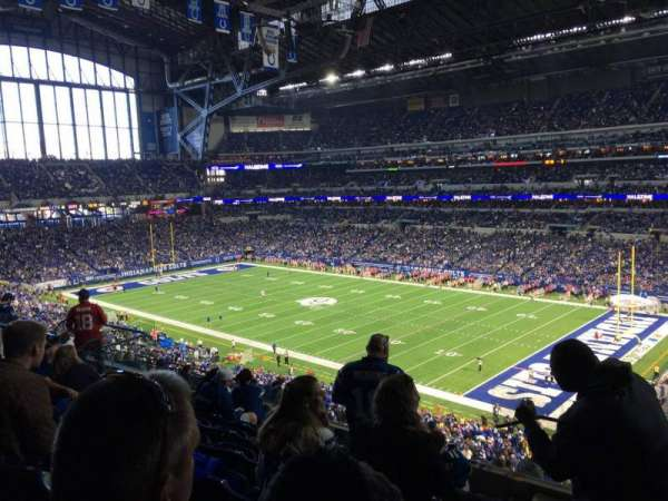 Lucas Oil Stadium, section: 434, rangée: 8, siège: 1